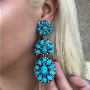 Jewelry - CLIP ON Turquoise Earrings